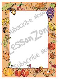 lesson zone au page borders