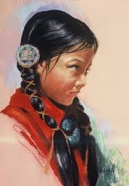 american indian hairstyles redfeather indian maiden on rock fishing in mountain lake