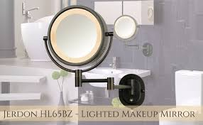lighted makeup mirror reviews jerdon hl65bz the wall mounted lighted makeup mirror for you