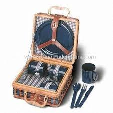 Picnic Basket Set Wholesale 24 X 24 X 13cm Picnic Basket Set Made Of Wicker Or