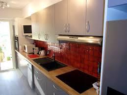 cuisine hetre clair déco cuisine hetre et gris 39 poitiers 19510646 decors