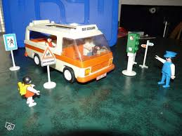 playmobil ancien bus scolaire collection
