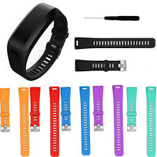 replacement silicone wrist bracelet images Replacement silicone wrist band bracelet strap w tool for garmin jpg