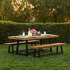 amazon com best choice products 3 piece acacia wood picnic style