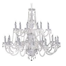 Chrome Crystal Chandelier by Chrome 18 Light Chandelier With Crystal Trimmings