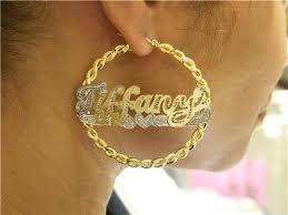 name hoop earrings bamboo name hoop w heart underline earrings jurnees path craft n