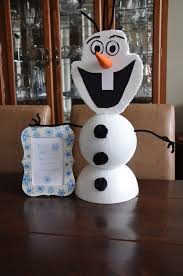 make your own olaf styrofoam balls construction paper pipe