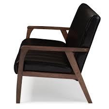 Sofa Mid Century Modern by Baxton Studio Nikko Mid Century Modern Scandinavian Style Dark