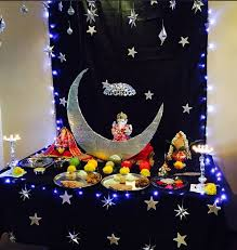 moon festival decorations ganpati decoration ideas at home ganesh pooja decoration