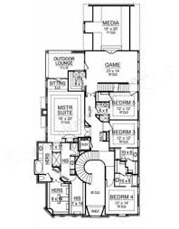 Narrow House Plans by Pebble Creek Narrow Floor Plans European Floor Plans