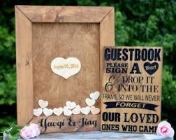 wedding guest register wedding guest book alternative white heart drop guest book