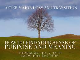 Downsizing Meaning Finding Your Sense Of Purpose U0026 Meaning After Loss U0026 Transition