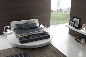 chambre avec lit rond revetement sol chambre adulte 2 lit rond design blanc avec