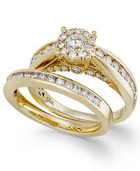 macy s wedding rings sets ring set in 14k gold 1 1 3 ct t w rings jewelry