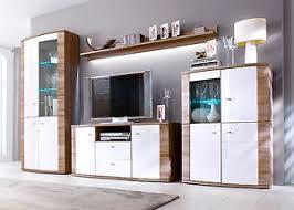 wohnzimmer moebel wohnwand in weiß hochglanz und eiche trüffel wohnzimmer möbel
