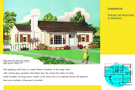 Typical House Style In Texas Ranch Homes Plans For America In The 1950s