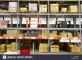ikea marketplace warehouse shelves at an ikea store in toronto canada stock photo