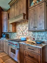 kitchen backsplashes modern rustic kitchen with gas range hood
