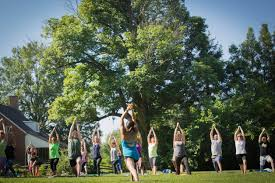The Barn Tea Rooms This Saturday Community Yoga By The Barn In Old Salem U2013 Townies