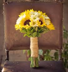 Sunflower Wedding Bouquet Diy Bride U0027s Bouquet Ideas Of Spring Wedding Flowers