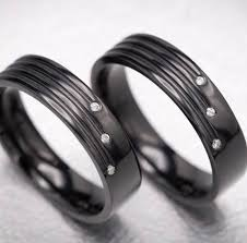 black wedding rings his and hers custom wedding rings design your own wedding bands custommade
