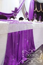 Purple Decorations A Crystallized Royal Purple And Silver Wedding Reception