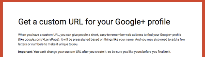 Google Plus Page Vanity Url How To Change A Google Custom Url Updated