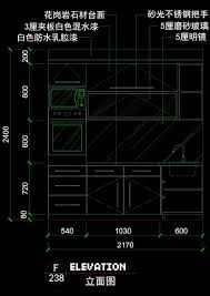 modern kitchen facade decoration cad drawings autocad drawing