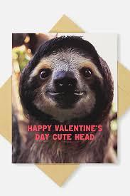 sloth valentines day card sloth valentines day box gift ideas