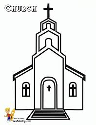 church coloring pages to print fablesfromthefriends com