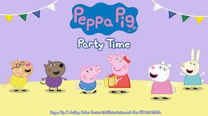 peppa pig party peppa pig party time gameplay app demo