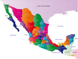 political map of mexico map of mexico political geography map of mexico regional