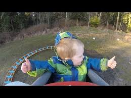 Backyard Roller Coaster For Sale by Kid Rides Homemade Backyard Roller Coaster For First Time