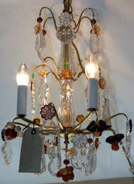 French Chandeliers Uk Sold French Coloured Glass U0026 Fruit Chandelier