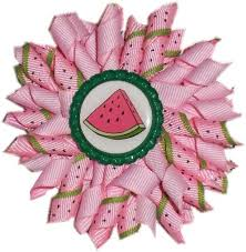 korker bows 2 korker hair bows watermelon by teresozarkbowsandstuff on zibbet