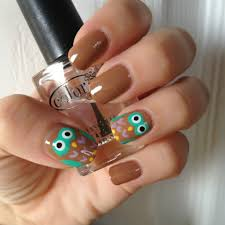 owl nail art for this design you will need several colors of