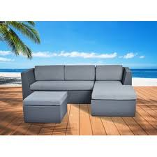 Outdoor Sofa With Chaise Curved Outdoor Sofa Wayfair