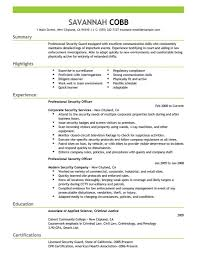 short security guard cover letter job and resume template
