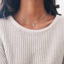 online shop 1pcs simple women star necklaces tiny small five