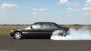 mercedes s600 amg mercedes s600 amg turbo acceleration and rolling burnout