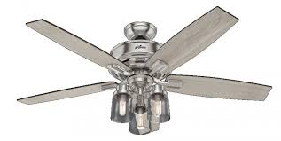 ceiling fan with grey blades 54190 bennett 3 led light 52 inch ceiling fans in brushed nickel