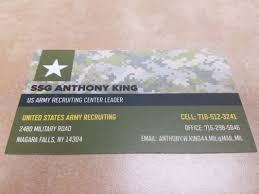 Us Government Business Cards Us Army Army Reserve Recruiting Center Public Services