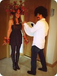 Tree Halloween Costume Fun Couples Costume Bob Ross Happy Tree Jeff Love