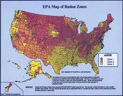 Color Map Of United States by Facts On Radon Healthy Homes Radon