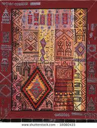Tunisian Rug Indian Patchwork Carpet Rajasthan Asia Stock Photo 100482610