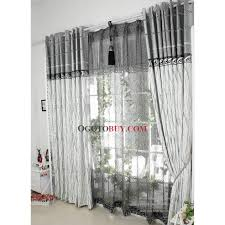 Cheap Grey Curtains Classic Jacquard Poly Cotton Artificial Fiber Blend Grey Curtains