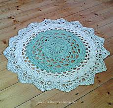 My Giant Doily Rug Crocheted Using Two Strands Of Yarn Creative