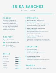 blue minimal infographic resume templates by canva