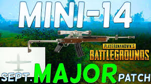 pubg patch player unknown s battlegrounds mini 14 the new september update