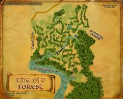 Map Of Mordor Map Of The Old Forest And Tom Bombadil U0027s House The Hobbit And